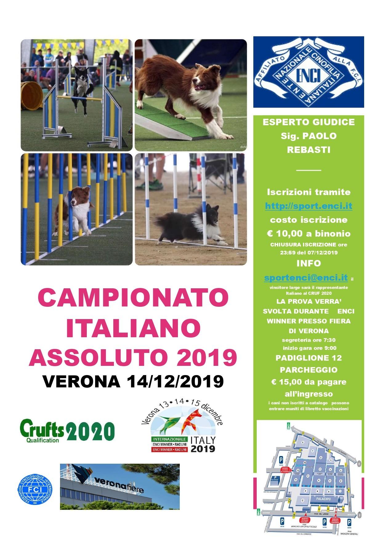 CAMPIONATO ITALIANO ASSOLUTO 2019