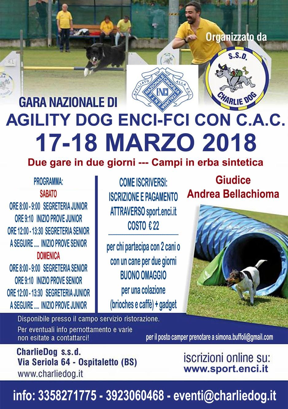 GARA NAZIONALE DI AGILITY CHARLIE DOG 17 MARZO