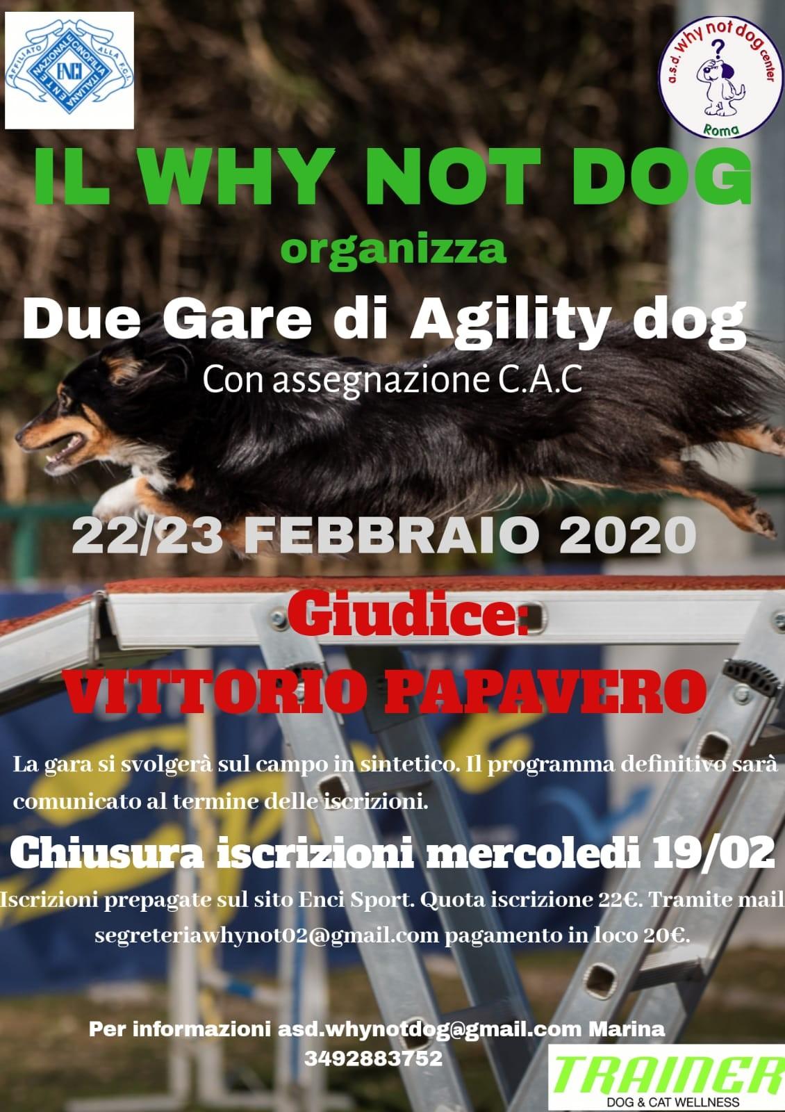 Gara Nazionale di Agility del 22 e 23 febbraio 2020