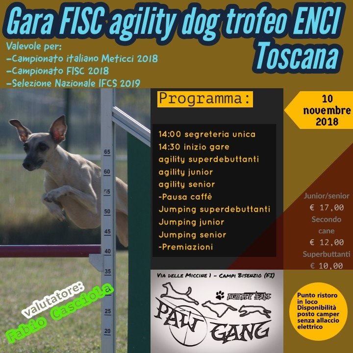 GARA Trofeo ENCI regione Toscana +gara Fisc