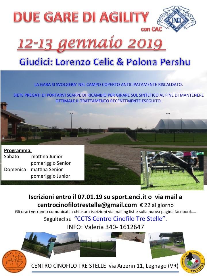 GSC CUD LEGNAGO (VR), DOMENICA 13 gennaio 2019