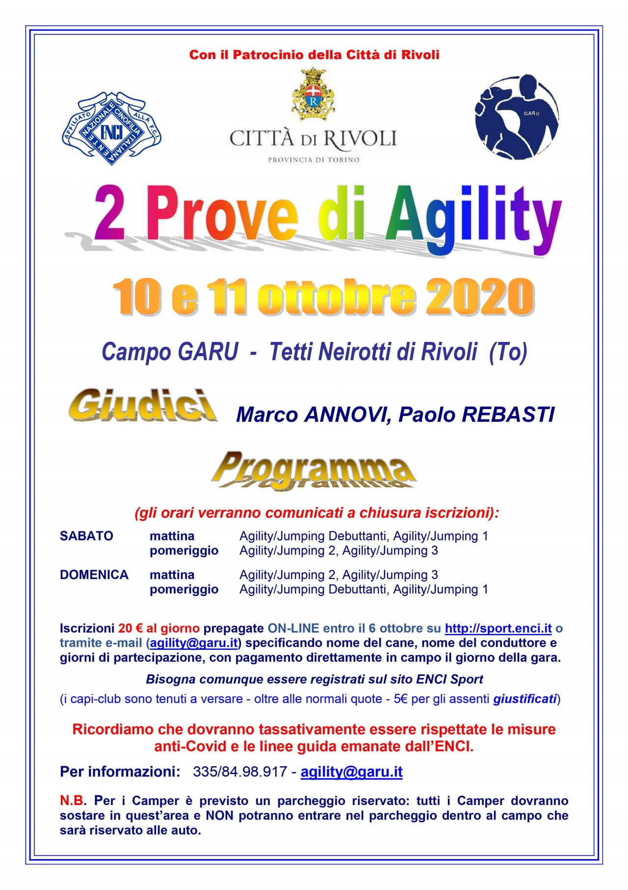 Prova Agility GARU 10 ottobre
