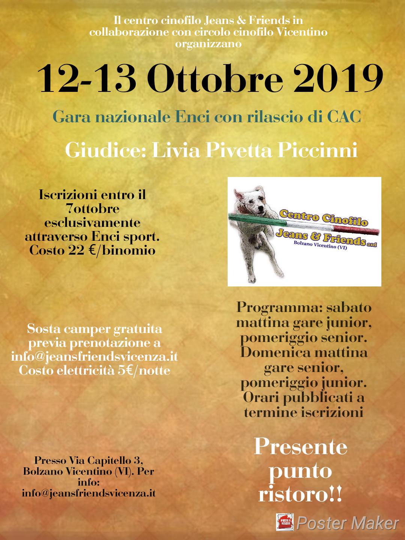Gara Nazionale di Agility Dog del 12 ottobre 2019