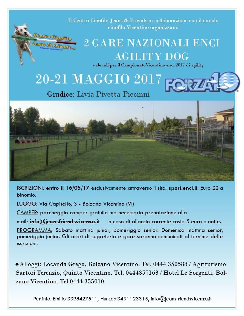 Gara nazionale ENCI agility dog 20/05/2017