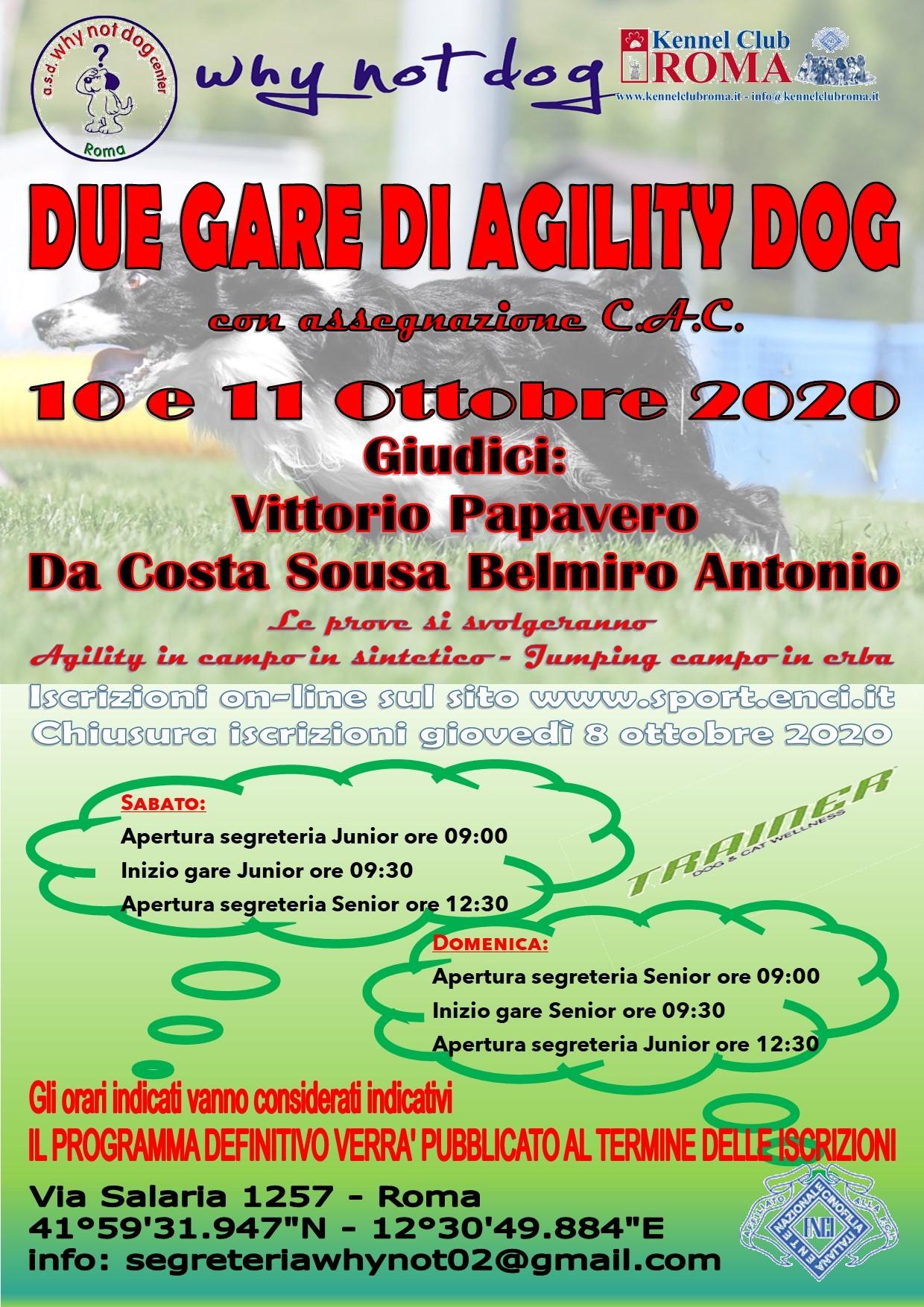Gara Nazionale di Agility del 10 e 11 ottobre 2020