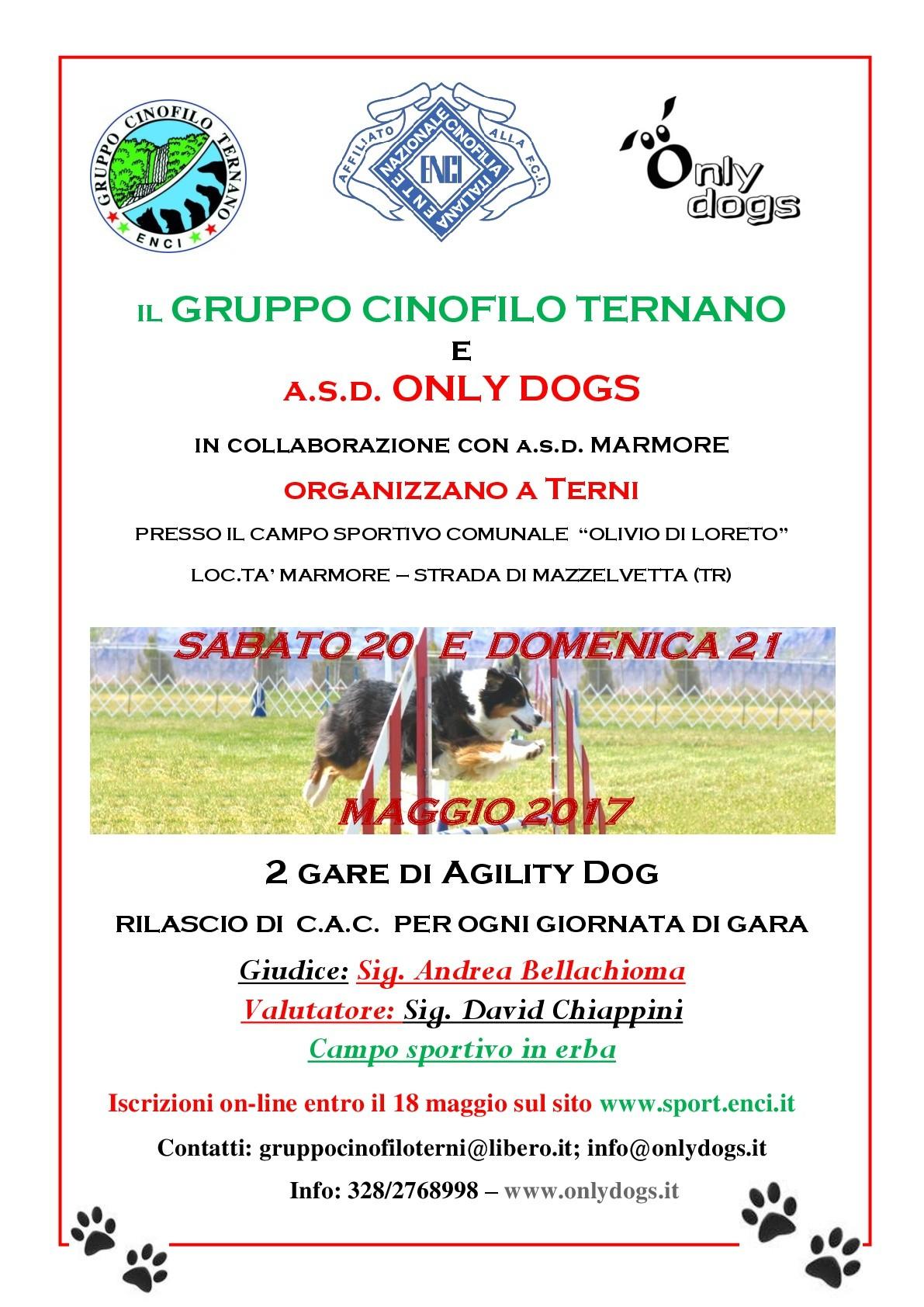 GARA NAZIONALE DI AGILITY DOG -- TERNI--