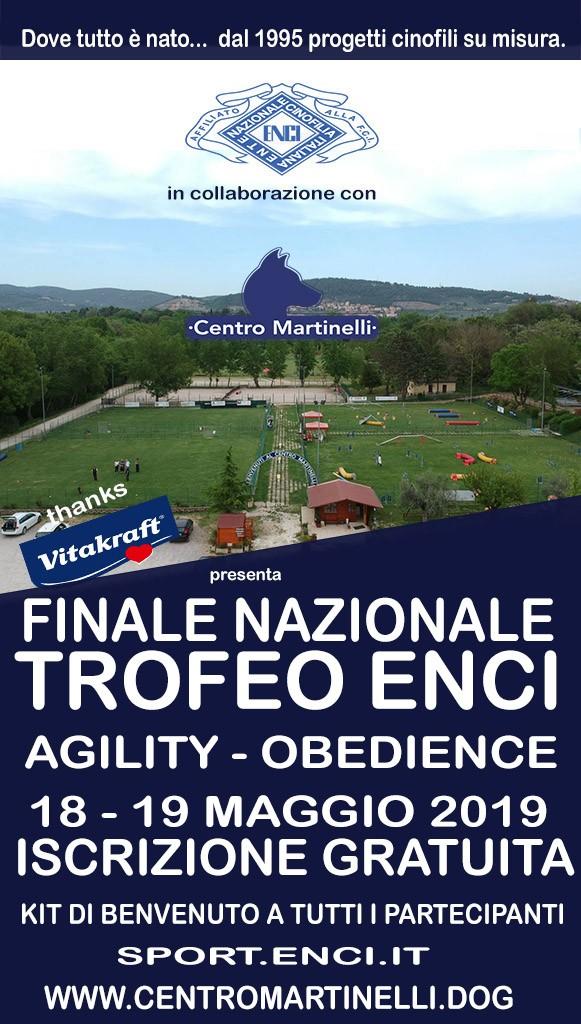 FINALE E FINALISSIMA INDIVIDUALE TROFEO ENCI DI AGILITY 2019