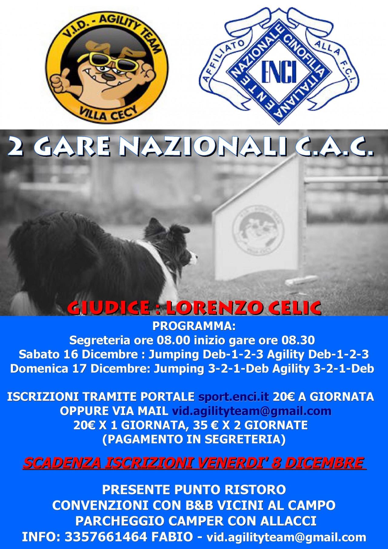GARA NAZIONALE CAC DOMENICA 17
