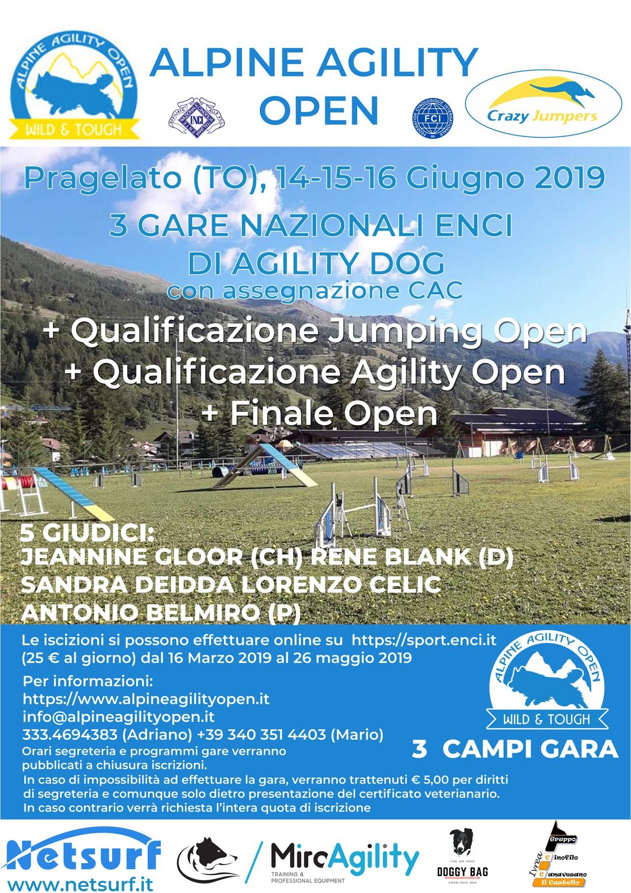 Sabato 15 giugno 2019: Gara Nazionale di Agility + Agility di qualificazione OPEN