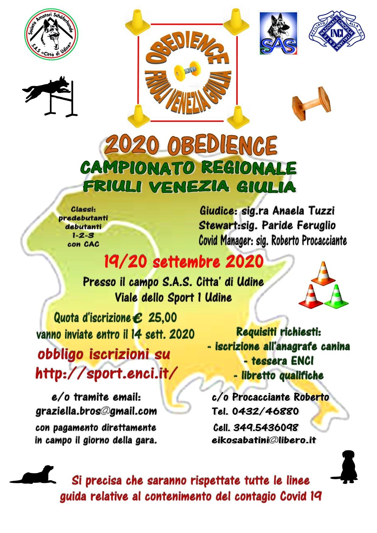 Prova di Obedience Città di Udine