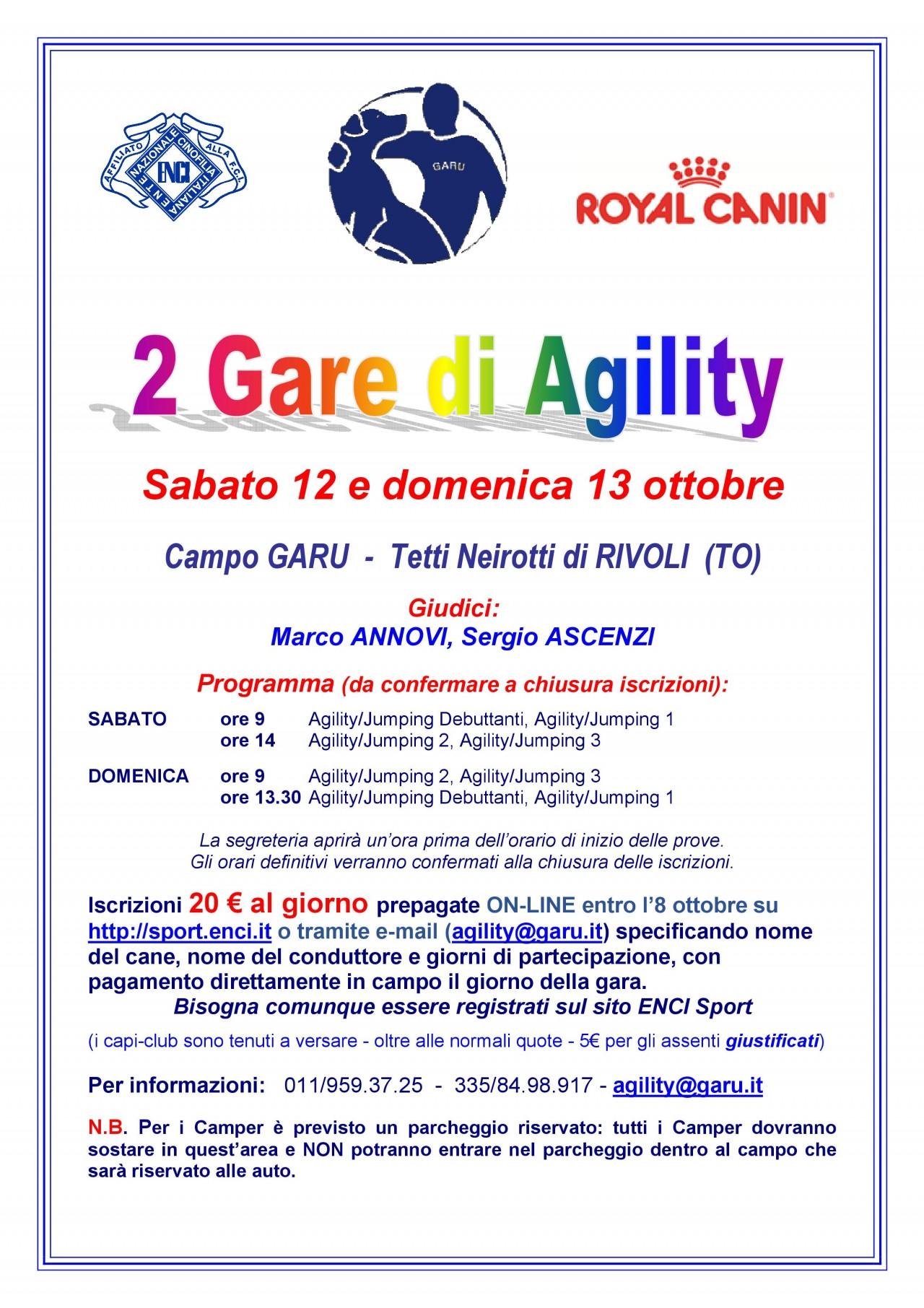 AGILITY GARU 12 OTTOBRE
