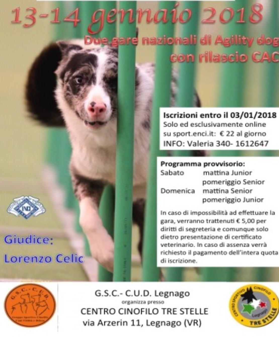GSC-CUD Legnago (VR) sabato 13 gennaio '18