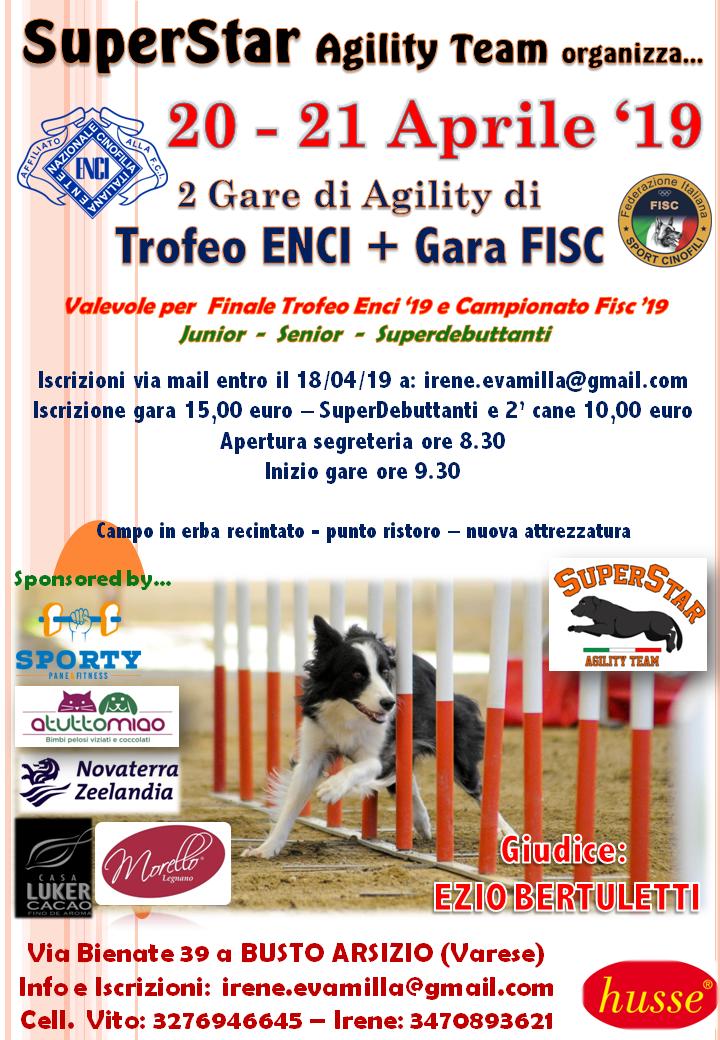 Gara SuperStar Agility Team di Trofeo ENCI / Fisc 21/04/19