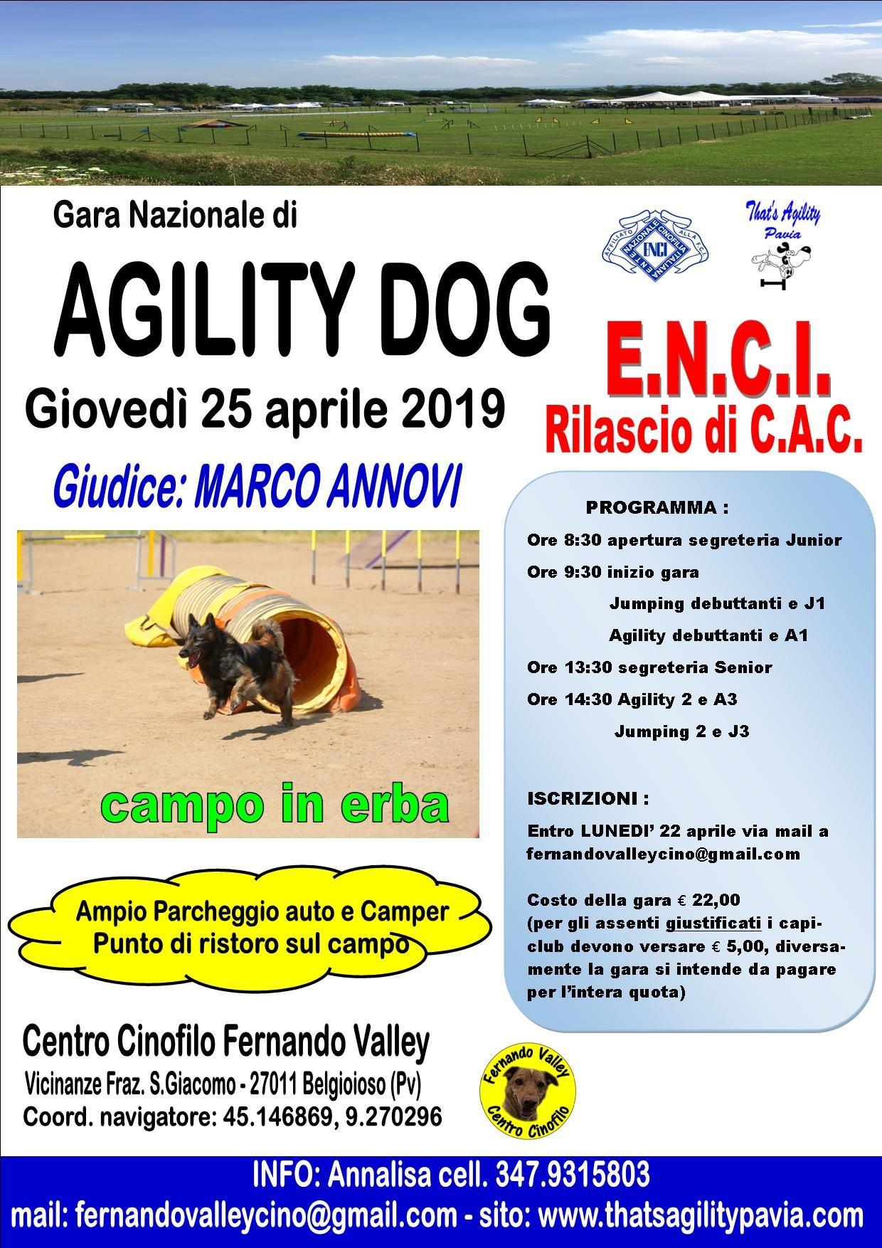 Gara Nazionale CAC 25 aprile 2019