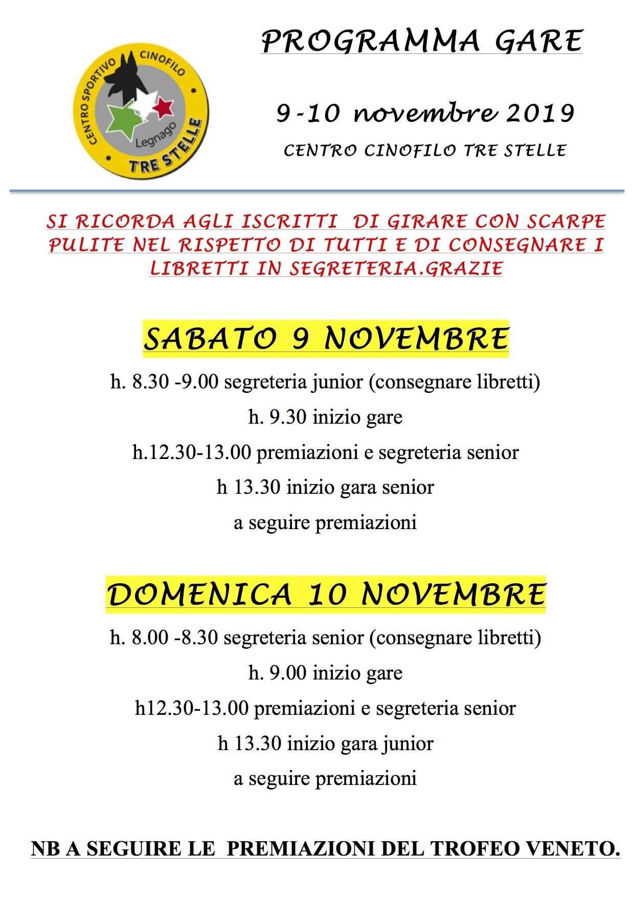 CCTS Legnago, 9 novembre 2019