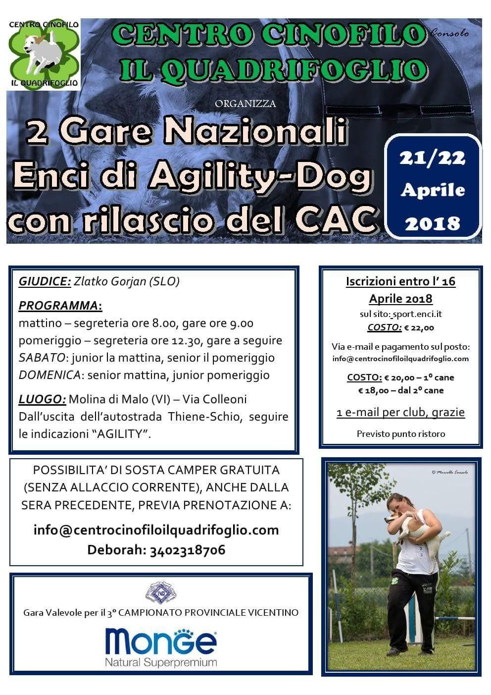 Gara Nazionale C.A.C. a Molina di Malo (VI) - 2 gare in 2 giorni