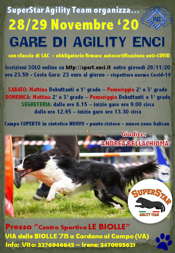 Gara Nazionale SuperStar Agility Team - 29 Novembre '20