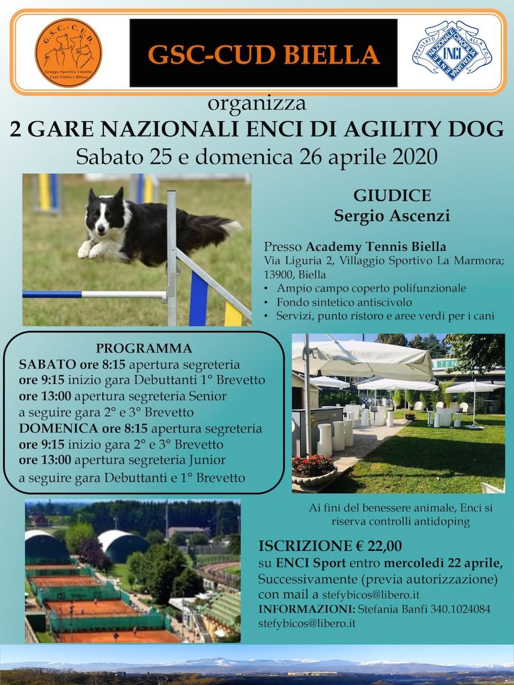 Due Gare Nazionali ENCI di Agility Dog