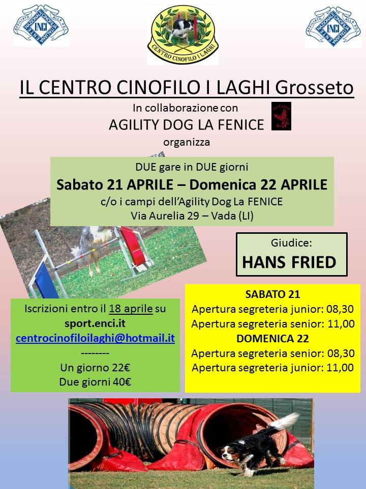 Gara Nazionale Agility  - I Laghi Grosseto - Sabato 21