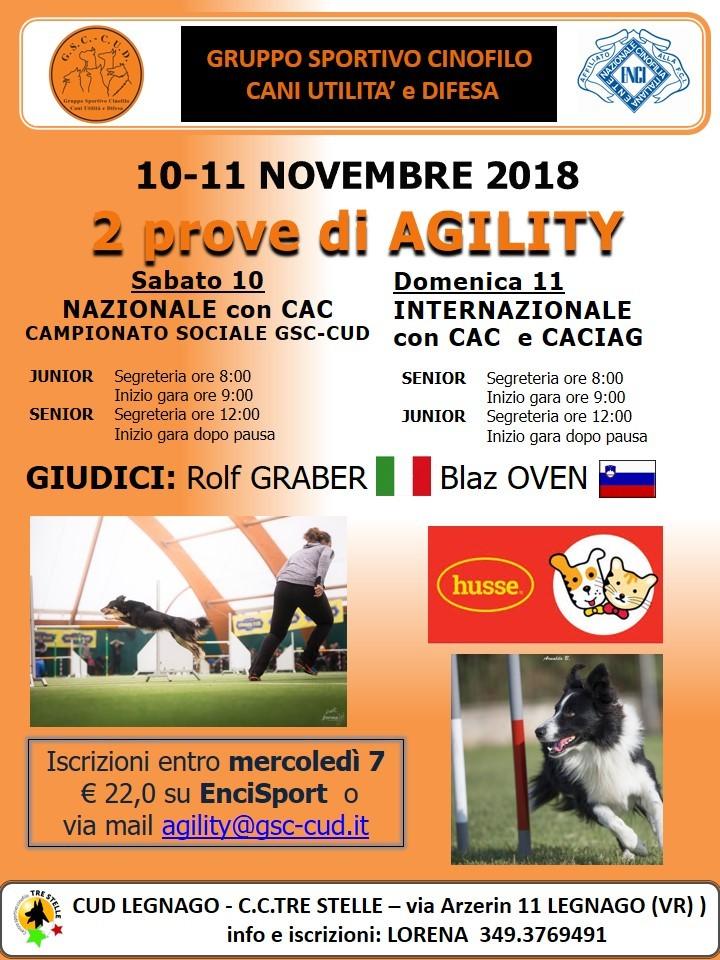 CAMPIONATO SOCIALE GSC-CUD sez. Legnago 10 novembre 2018