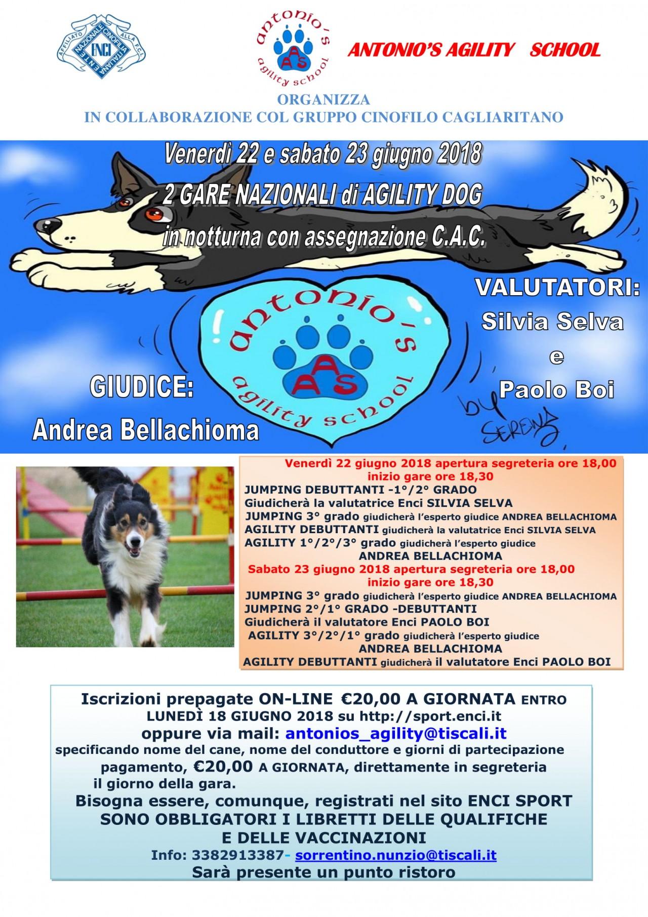 Gara Nazionale Agility Dog del 22.06.2018