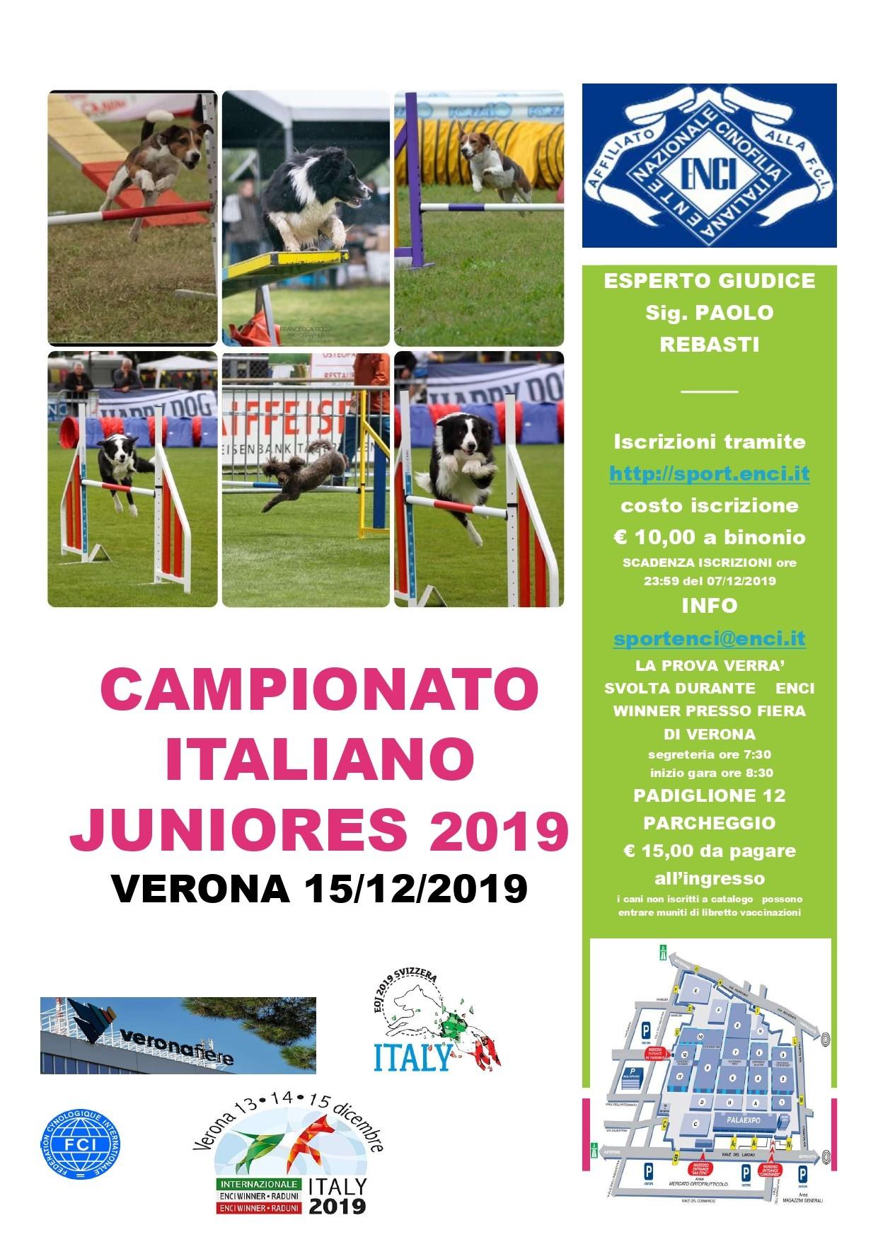 CAMPIONATO ITALIANO JUNIORES 2019 UNDER 12