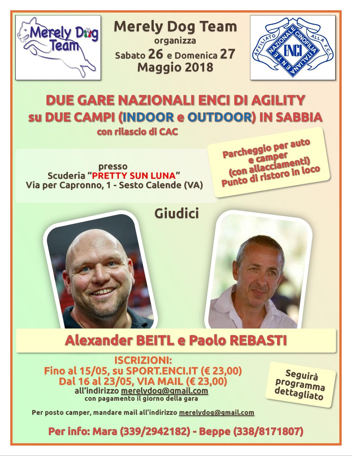 Sabato 26 Maggio Merely Dog Team Organizza